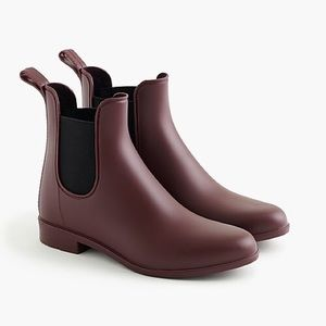 J. CREW | Matte Chelsea Rain Boot (burgundy)